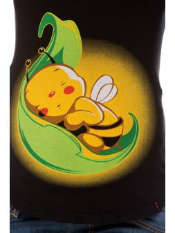 Maternity t-shirt Bee on the leaf