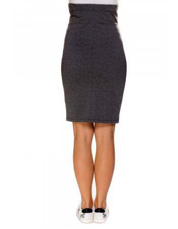 Maternity skirt Mel gray back