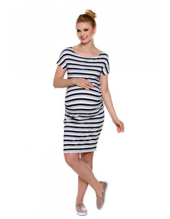 Maternity nursing dress Wendy stripes