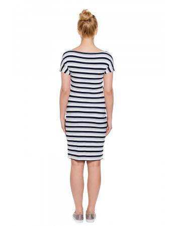 Maternity nursing dress Wendy stripes back