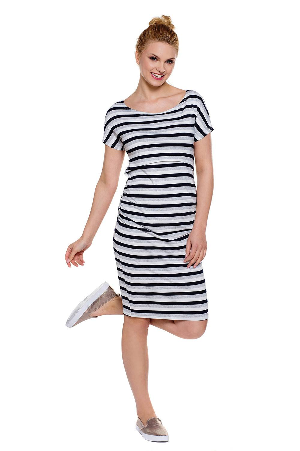 Breastfeeding dress Wendy stripes